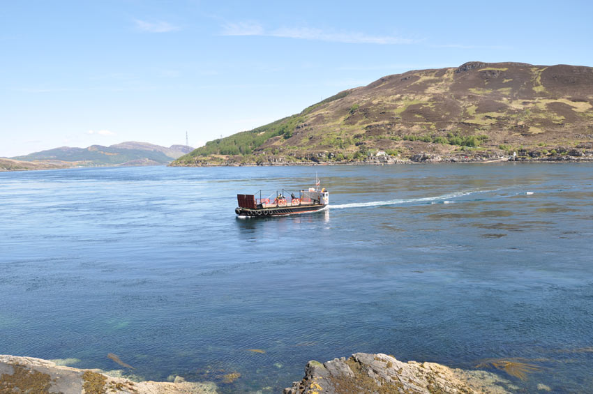 The Kylerhea ferry.