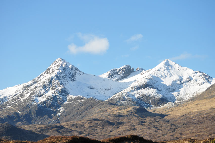 The Cuillins in winter
